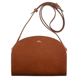 [APC] [아페쎄] Half-moon bag(PXADM-F61048)_NUT BROWN