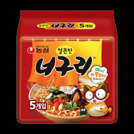 [농심][농심正品, 유통기한 최신품] 농심 너구리 매운맛 40개(1box), 신상품, 본사직송, 업계 최저배송비