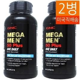 [지앤씨] [해외배송] 2병 지앤씨 메가맨 원데일리 50플러스 60정