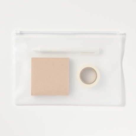 (대량 도매) PVC 슬라이드 지퍼백 24 X 15cm (반투명 100장)