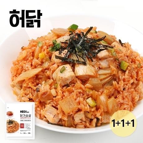 □ 허닭 닭가슴살 김치 곤약 볶음밥 250g 1+1+1팩