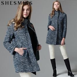 쉬즈미스 (쉬즈미스(SHESMISS)) 부클스노우 노카라 집업 울코트(fabric made in italy) (택가격-4980