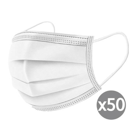 개당 78원) 국내인증 대형 멜트블로운 일회용마스크 50매 3중필터 마스크 화이트