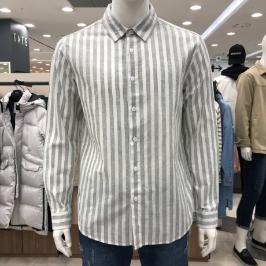 [모다아울렛] 닉스 린넨  스트라이프 셔츠 (컴포트핏) NNE CSL102 - 2