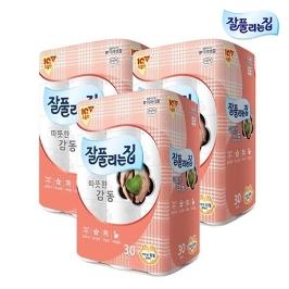 [원더배송] 잘풀리는집 따뜻한감동25m 30롤 X3팩