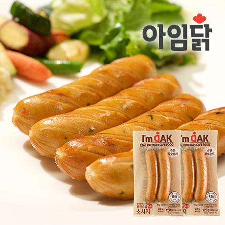 순한 참숯 훈제 닭가슴살 소시지 120g 1+1팩(쿠폰가 4,080원)
