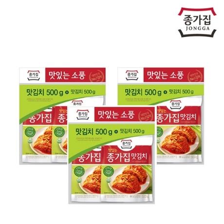 [종가집] 맛김치(500gx2개)x3세트(소풍기획)