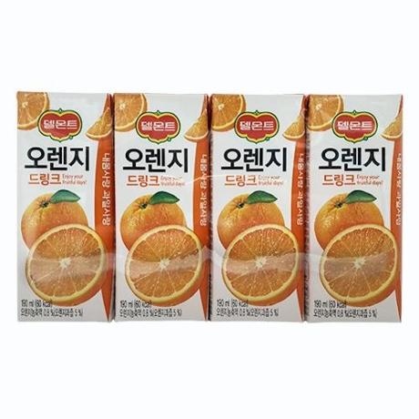 [롯데]델몬트 오렌지 드링크 190ml x 4입