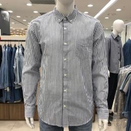 [모다아울렛] 닉스 남 코튼평직 스트라이프 기본카라 셔츠 NNE CSL108