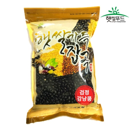 [햇쌀푸드] 맛있는 잡곡 검정 강낭콩 검은콩 500g