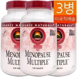 [해외배송] 3병 소스내추럴스 메노포즈 멀티플 menopause multiple 120tablet