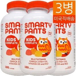 [커클랜드] [해외배송] 3병 스마티팬츠 어린이 구미 멀티비타민 Kids Complete MultiVitamin 180거미**