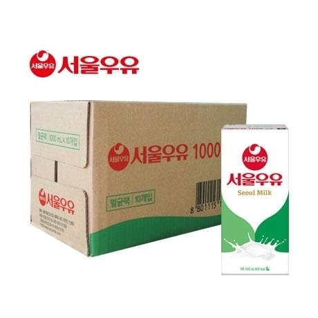 서울 멸균우유 1L X 10팩/서울우유/두유/흰우유