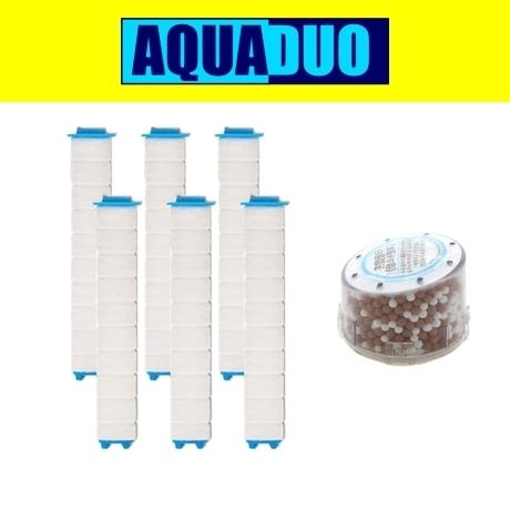 샤워플러스 녹물제거 - 샤워기 SF300 녹물필터 6개+혼합필터 1개