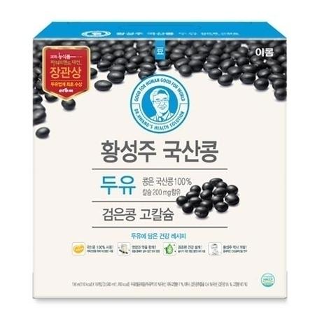 [원더배송] 이롬 황성주 검은콩 고칼슘 두유 190ml X 32