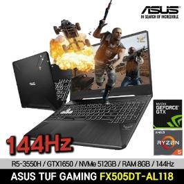 [예약판매]ASUS TUF 게이밍노트북 FX505DT-AL118 GTX1650/NVMe512GB/8GB