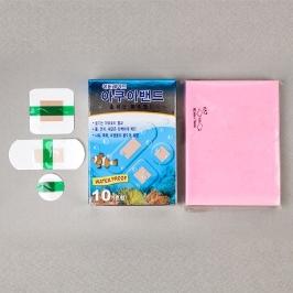 에버레이드 아쿠아밴드 혼합 10매 (표준형 6.3*2.5cm,네모형 3.8*3.8cm,원형 2.2*2.2cm)