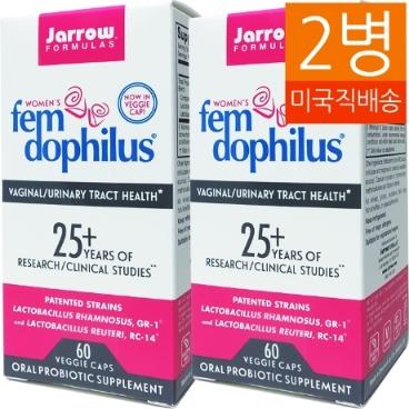 [해외배송]2병 자로우 여성 팸 도피러스 FemDophilus 50억유산균 60캡