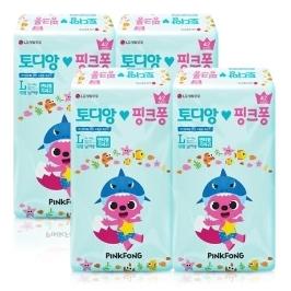 [원더배송] 토디앙 핑크퐁 팬티기저귀 대형 남아 42매 X 4팩