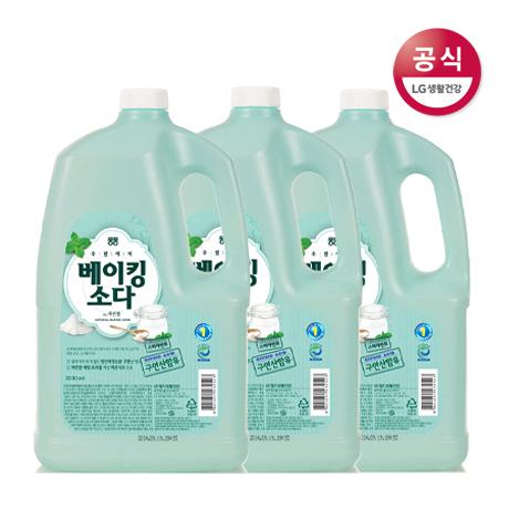 퐁퐁 안심 주방세제 베이킹소다 용기 3Lx3개