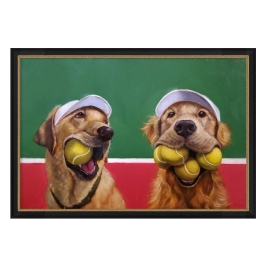 [롯데아울렛] 인테리어액자 테니스 강아지그림 홈카페 월아트 방꾸미기 (액자포함)
