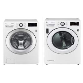(현대홈쇼핑)LG 트롬 세탁기+건조기 세트 (화이트) [17kg+14kg]
