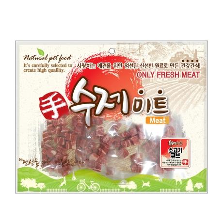 수제미트 대용량 강아지간식 소고기큐브 300g
