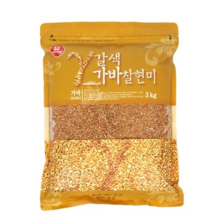 [두보식품] 갈색가바 찰현미 3kg