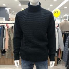 [모다아울렛] 닉스 남성 사선케이블 터틀넥 스웨터 NMW CWT112-2