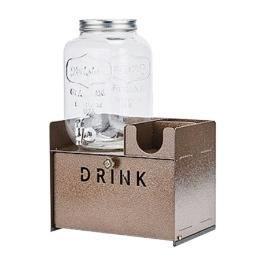 [바보사랑]카페 크리스탈 음료 디스펜서 7.8리터 수납선반 세트