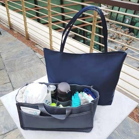 [코담코담] 무배_가벼운 방수원단 숄더백 이너백 기저귀가방