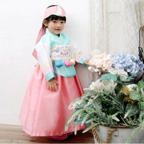 [뮤한복] [뮤한복] C 여아 눈솔 전통 한복 (MB3WHA003)