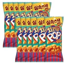 오리온 치킨팝 닭강정맛 81g X 12봉외