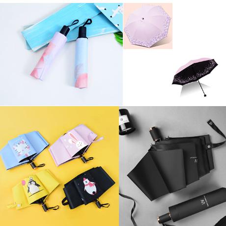 UV 암막 접이식 3단 튼튼한 예쁜 우양산 접는 가벼운 자외선차단 수동우산