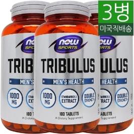 [해외배송] 3병/180정 나우푸드 스포츠 트리뷸러스 Tribulus 1000mg__