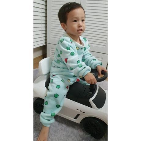 [장난꾸러기] 장난꾸러기 유아동수면도형 세모네모잠옷상하세트
