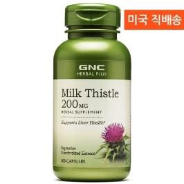 [지앤씨] [해외배송] 100정 GNC 밀크씨슬 실리마린 200mg