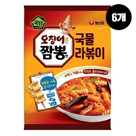 [원더배송] 농심 쿡탐오징어짬뽕맛국물라볶이 380g 6봉