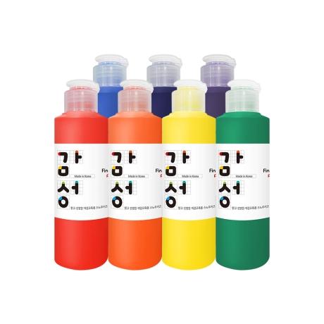 스노우키즈 색감교육용 핑거페인트 감성물감 140ml 7색세트 + 선물주머니 증정