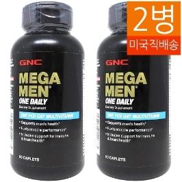 [지앤씨] [해외배송] 2병 GNC 메가맨 원데일리 비타민 60정