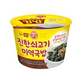 [싸고빠르다] 맛있는 오뚜기 컵밥 진한 쇠고기미역국밥 283.5g 1개