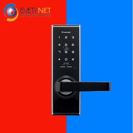 [에버넷] 에버넷 디지털도어락 EN750W 목문용 비밀번호 카드키