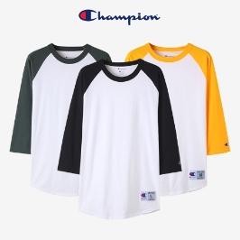 챔피온 T137 래글런 베이스볼 3/4 티셔츠