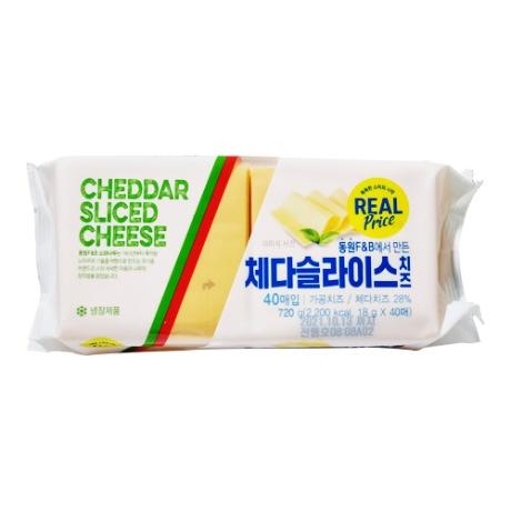 [리얼]소와나무 체다 슬라이스 치즈 40매