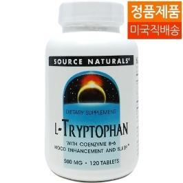 [해외배송] 소스내추럴스 엘-트립토판 L-Tryptophan 120정