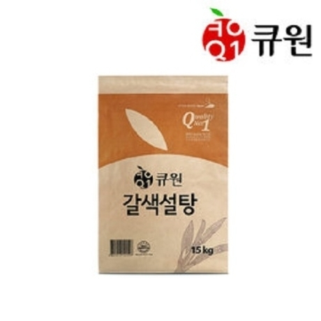 큐원 갈색설탕 15Kg