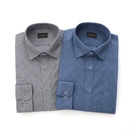 [예작] [대구백화점]긴팔 멜란프린트 일반셔츠