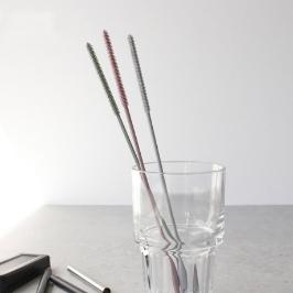 (현대Hmall)[안나하우스](국산) 파스텔 실리콘 빨대솔 1p - 3color[바보사랑]
