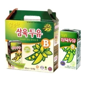 [원더배송] 삼육두유B 달콤한맛 190ml x 16팩 / 유통기한 04-10까지