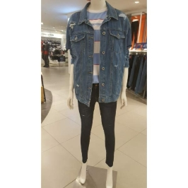 (현대백화점)클라이드 엔 CHBJK574F 여성용 블루 데님 자켓